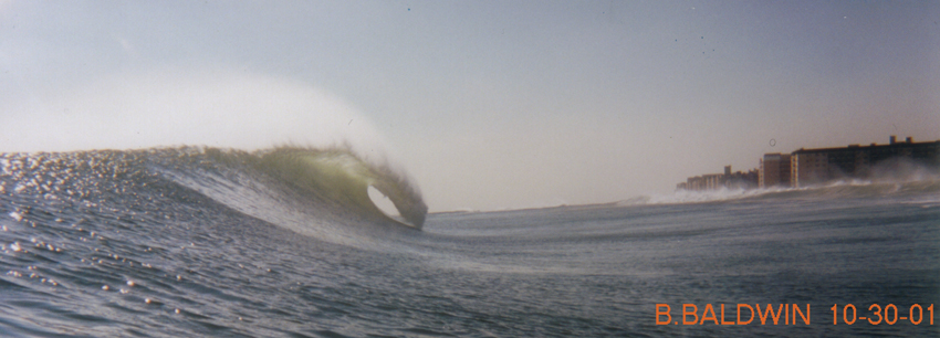 EPIC!  Outside Top-To-Bottom Barrell - Long Beach, N.Y.  10/30/01
